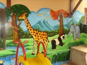 mural animals di tk