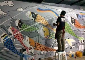 cara membuat mural