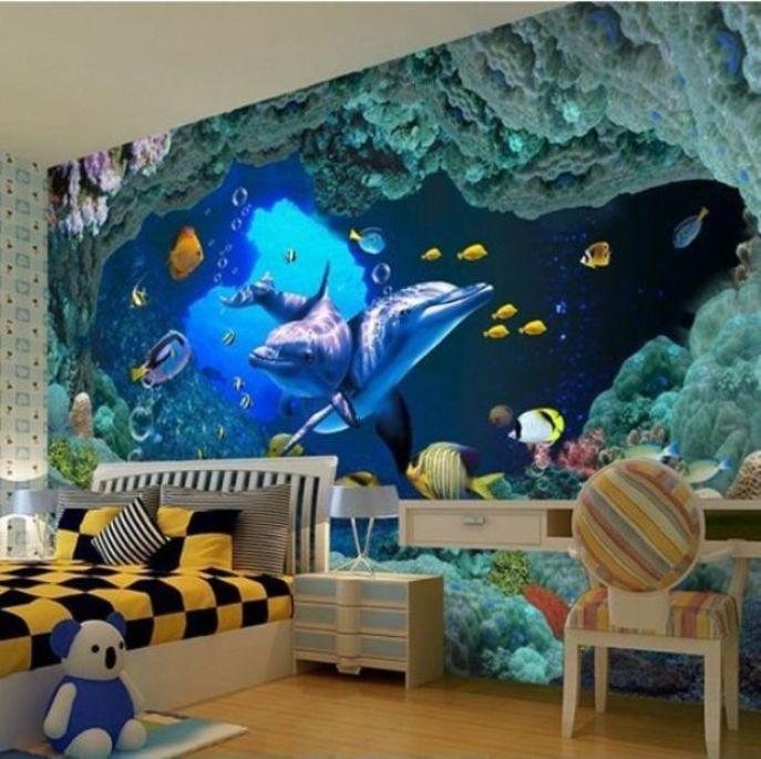 Ide Gambar 3D Wallpaper Underwater, Percantik Interior Rumah Anda