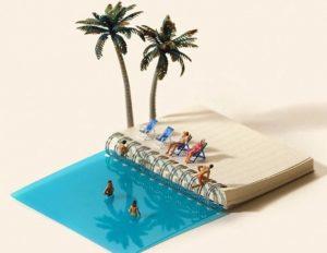 diorama pantai