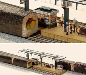 diorama kereta api