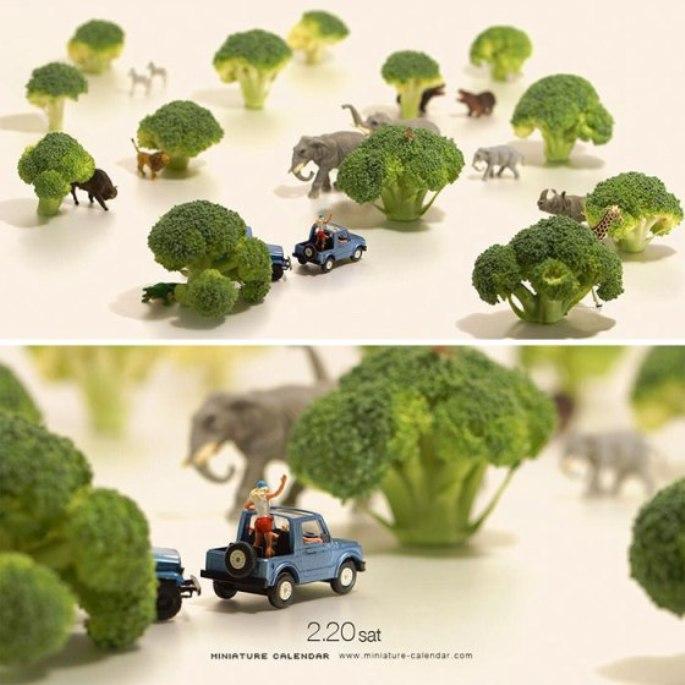 diorama kebun binatang