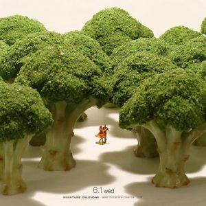 diorama hutan