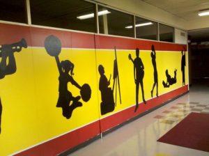 mural school hallway