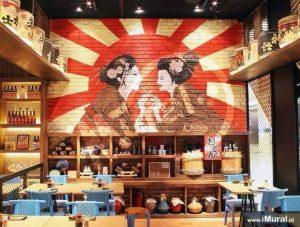 mural untuk restoran jepang sushi groove