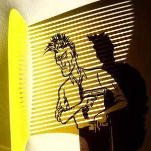 fun ilustrasi dari bayangan sisir