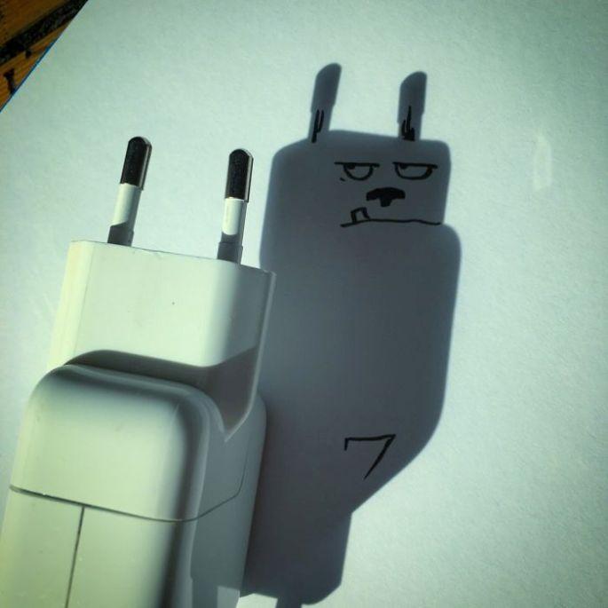 ilustrasi dog dari bayangan charger