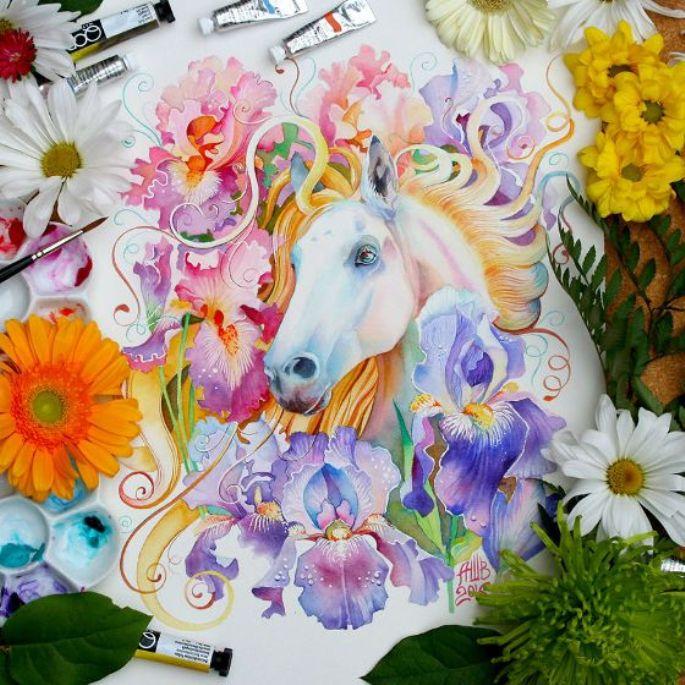 lukisan hewan kuda