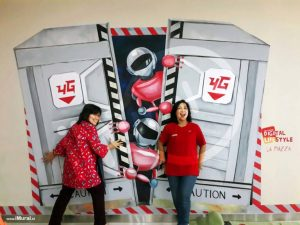 ide background photobooth tekomsel DG life La Piazza