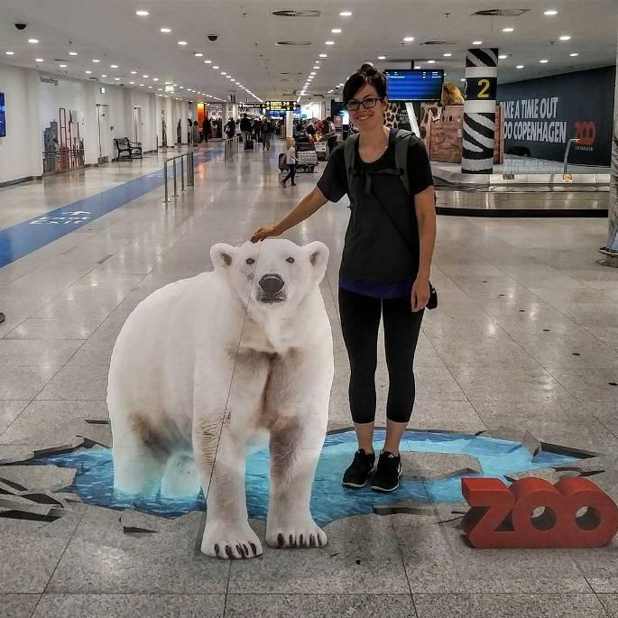 lukisan 3 dimensi beruang