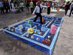 lukisan 3 dimensi lantai games