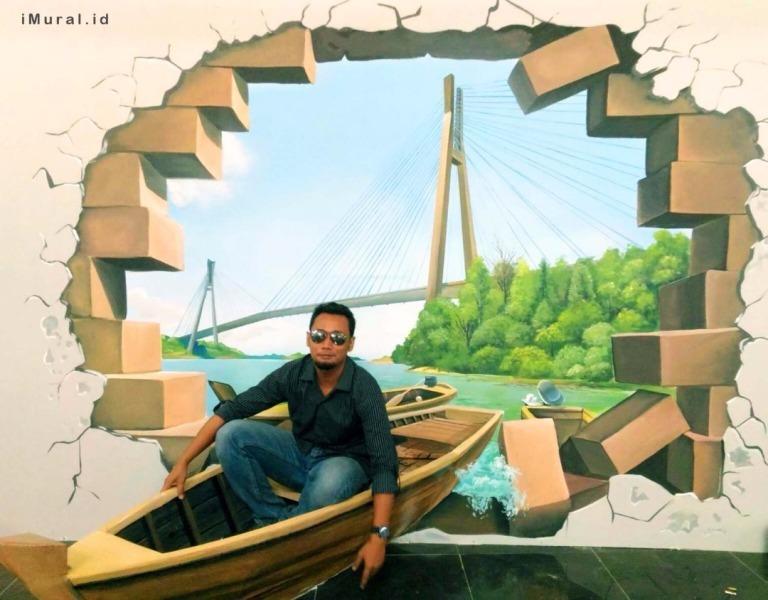 lukisan 4 dimensi perahu