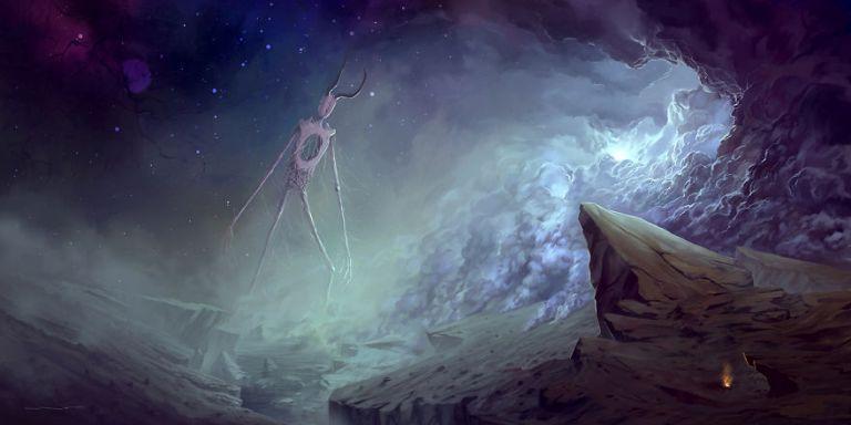 lukisan fantasi warden of a dying world resized