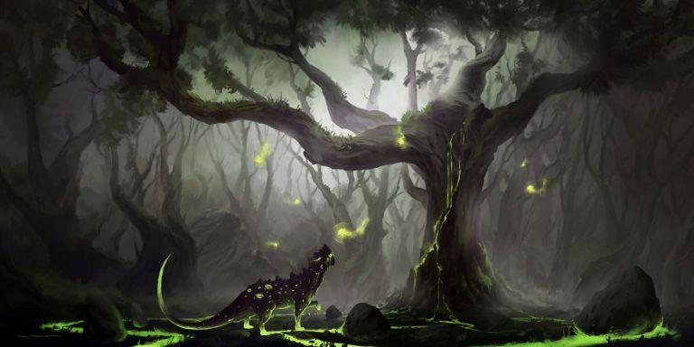 lukisan fantasi wisp hunter resized