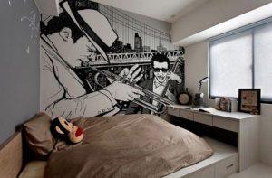 mural hitam putih keren