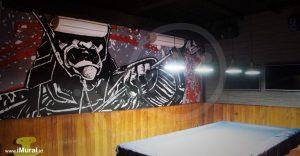 mural restoran jepang