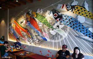 mural untuk restoran jepang hachimaki