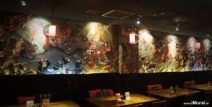 mural untuk restoran jepang takigawa