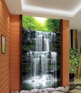 gambar 3d (tiga dimensi) air terjun