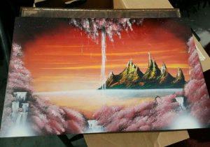 lukisan dengan cat semprot 3