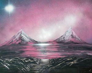 lukisan dengan cat semprot 5