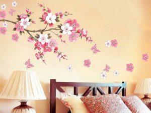 mural bunga sakura