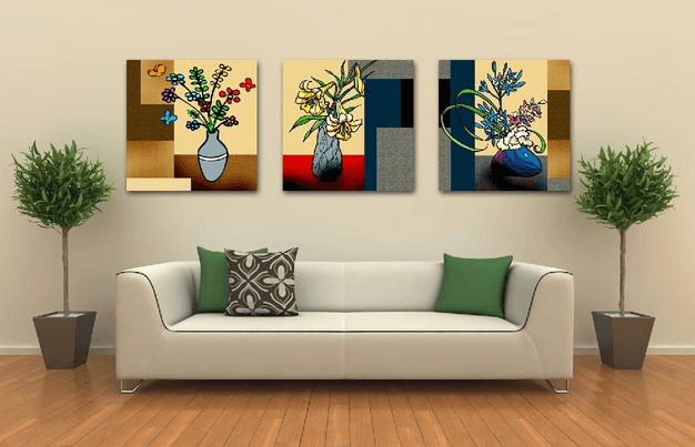 Lukisan Dinding Vas Bunga