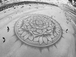 lukisan pasir 1