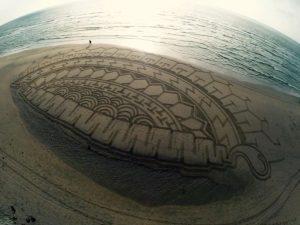 lukisan pasir 13