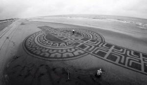 lukisan pasir 15