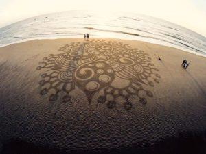 lukisan pasir 16