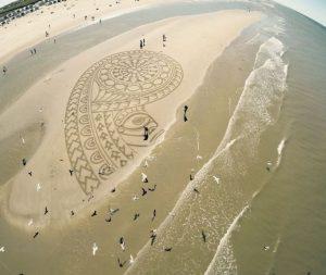 lukisan pasir 24