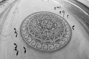 lukisan pasir 4