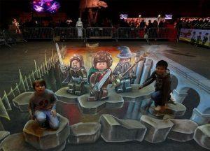 3d trick art dunia anak