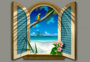 3d trick art jendela