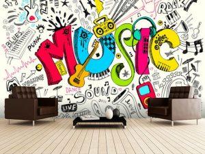mural musik 1