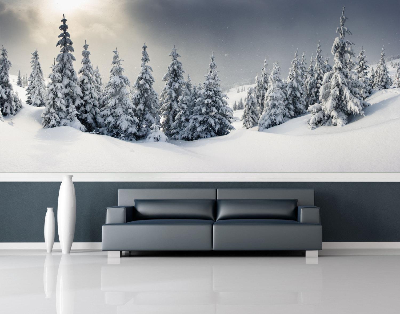 Mural Musim Dingin yang Indah dan Menyejukkan Untuk Rumah Anda