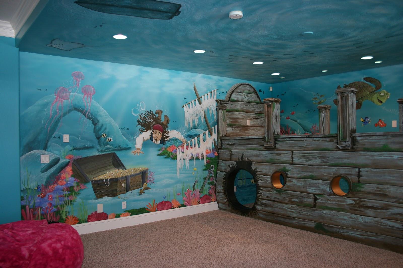 Mural Underwater Untuk Menghiasi Kamar Anak Anda