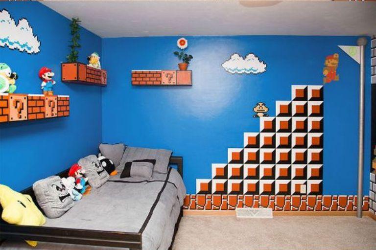 dekorasi dinding berteme super mario 15