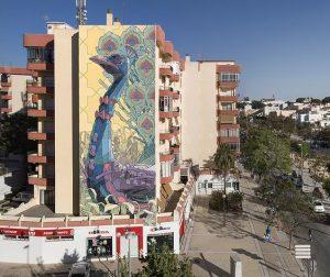 mural di bangunan tinggi 4