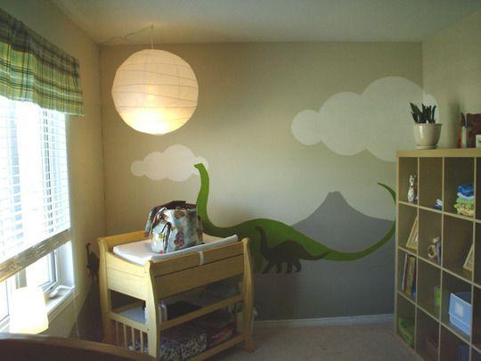 mural dinosaurus 1