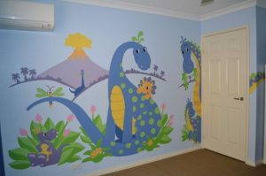 mural dinosaurus 10