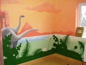 mural dinosaurus 12