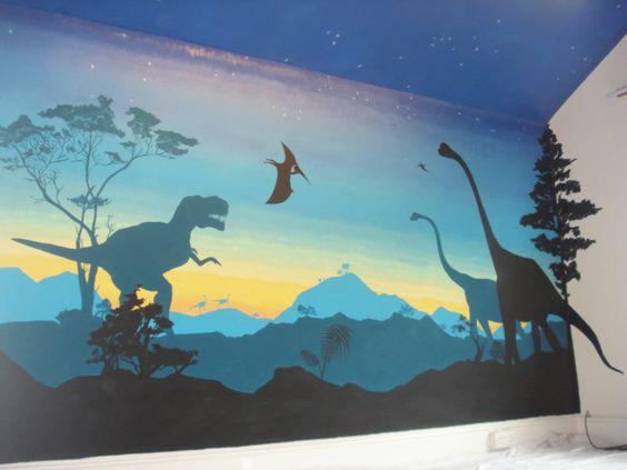 mural dinosaurus 2