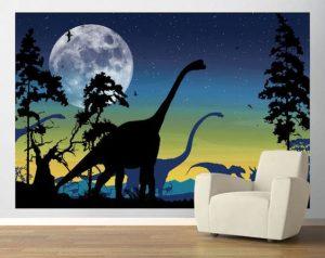 mural dinosaurus 3