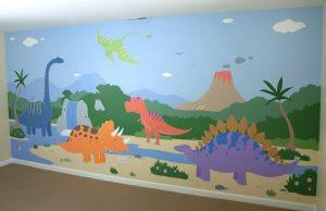 mural dinosaurus 4