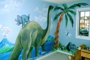 mural dinosaurus 6