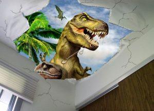 mural dinosaurus 9