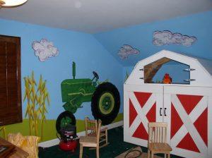 mural suasana peternakan 10