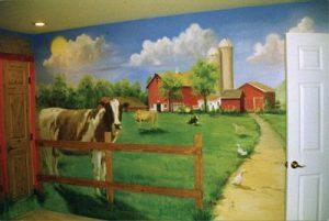 mural suasana peternakan 11